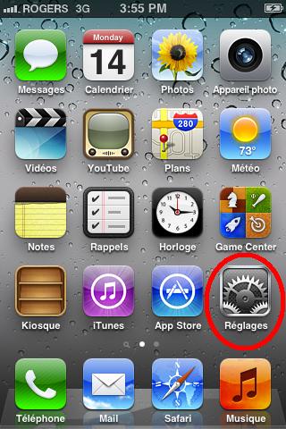 Courriel iOS 1